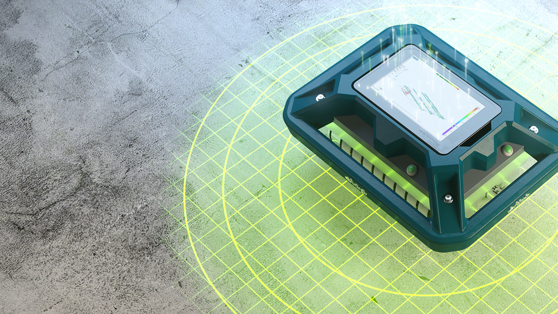 Elop Insight concrete scanner collecting data